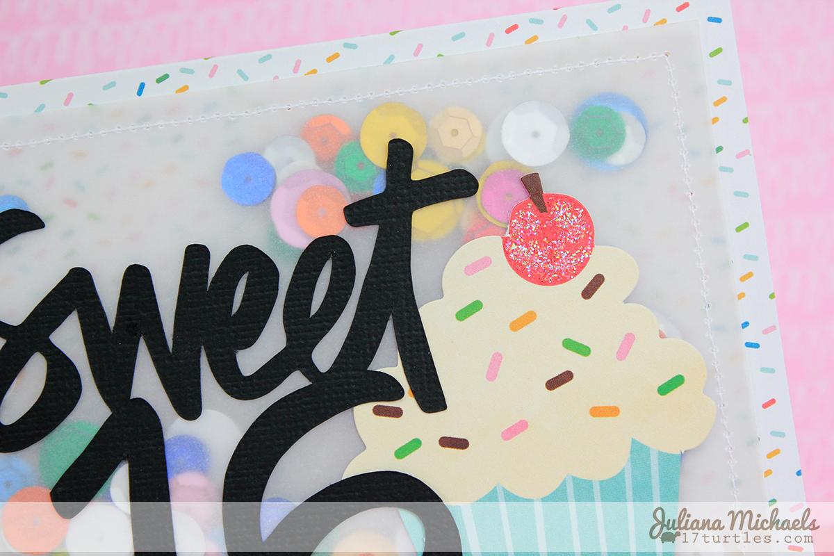 Sweet 16 Happy Birthday Card by Juliana Michaels #pebblesinc #birthdaycard #vellum #sequins