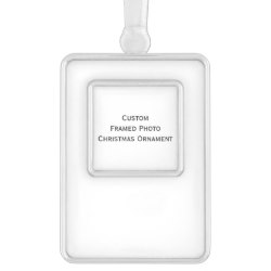 Custom Tall Silver Plated Framed Photo Christmas Ornament