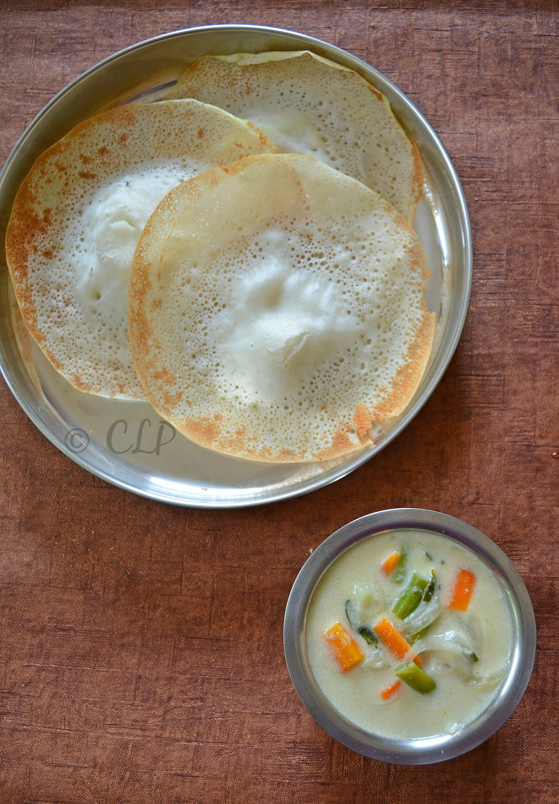 Coconut milk vegetable stew for appam