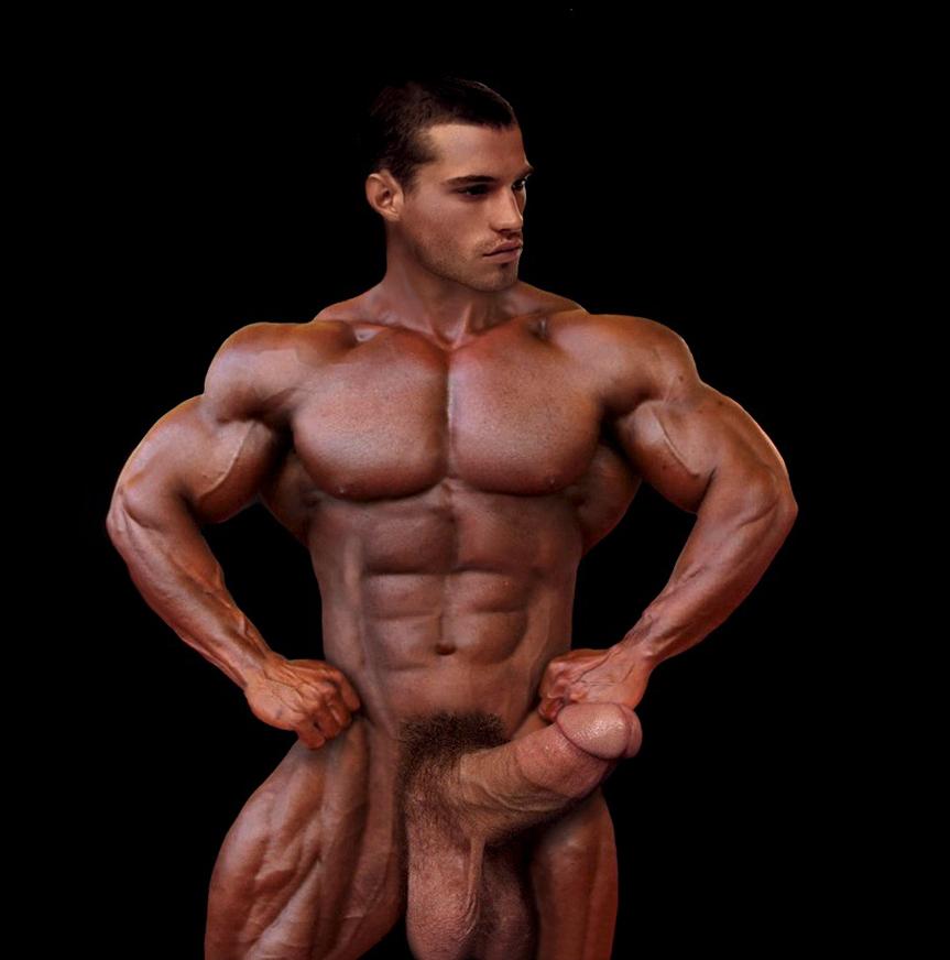 nude bodybuilder photoshop cock