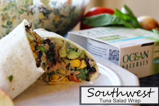 Southwest Tuna Salad Wrap #OceanNaturals #shop #Recipe