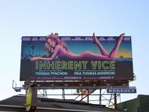 Inherent Vice movie billboard