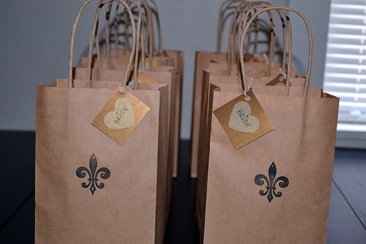 New Orleans Bachelorette weekend favor bags