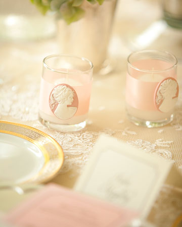 Courtesy of Martha Stewart Weddings these easy to make votive candles make a
