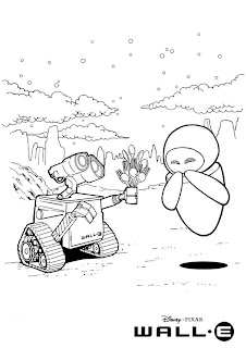 wall-e coloring pages for kids