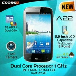 Harga Cross A22 update | Spesifikasi Cross A22, Dual Core, 3G, 5"