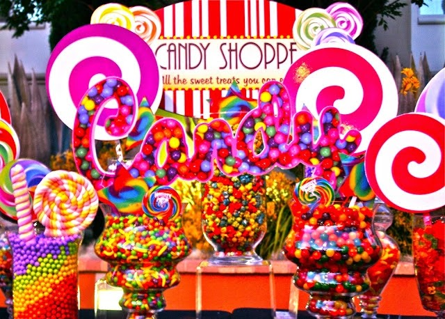 jackie sorkin s fabulously fun candy girls candy world candy rh hollywoodcandygirls blogspot com neon candy table neon candy table