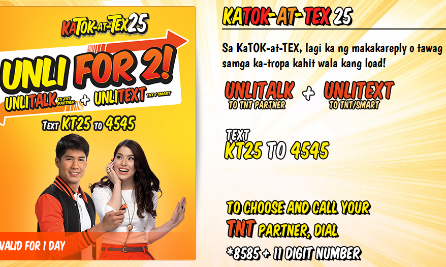How to register on Katok-At-Tex 25 Unli calls and text?