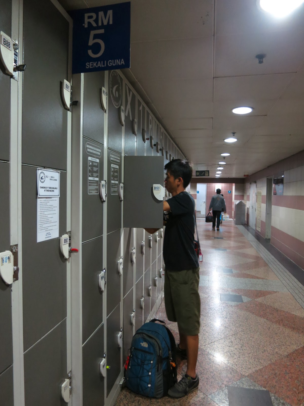Rental electronic lockers at KL Sentral