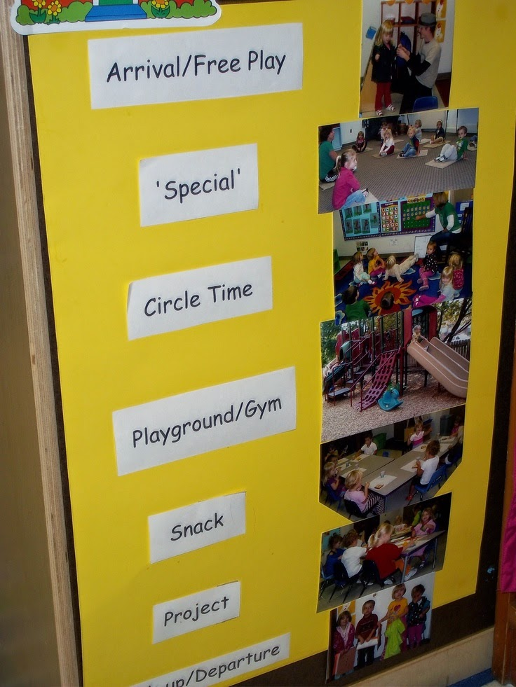 visual schedule for pre-school kids
