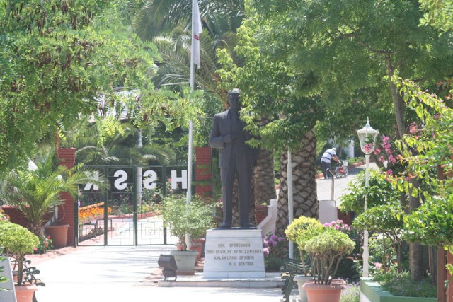 Statue of Atatürk at the club.