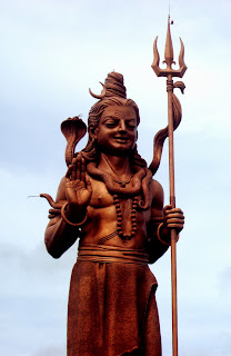 Shiva striding forth; modern clay model.