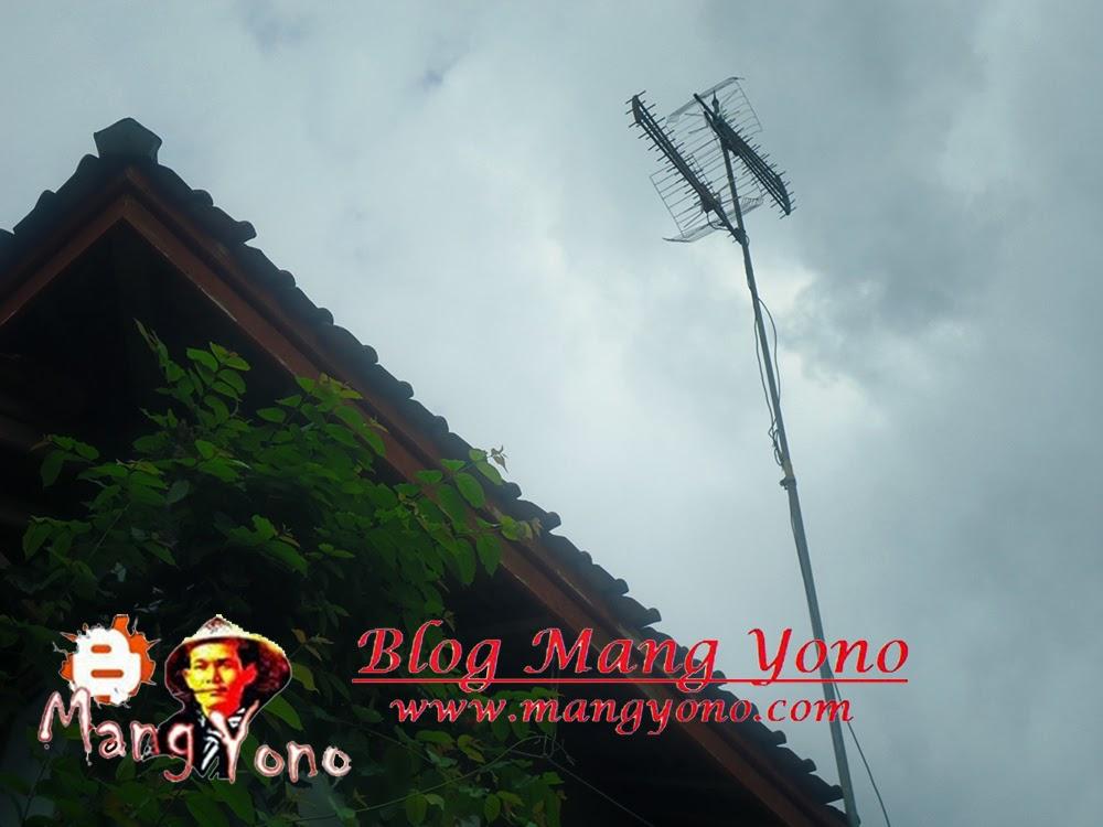 Saya masih Memasang Antena UHF dua Antena