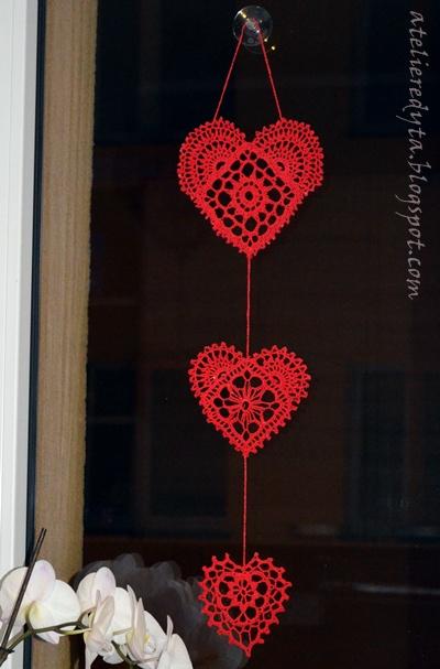 serca do zawieszenia w oknie