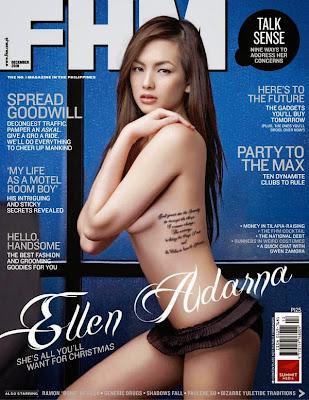 Ellen Adarna sexy photos in FHM Philippines December 2010 cover issue