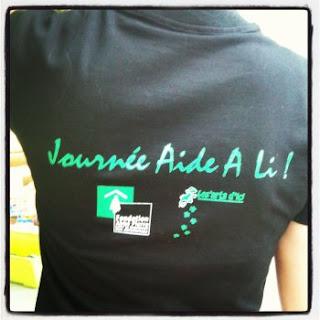 Tee shirt de l'évènement Aide a li