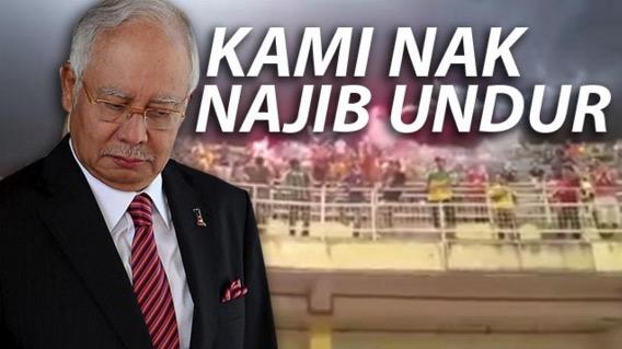 Video Stadium kedah bergema lagu 'Kami Nak Najib Undur'