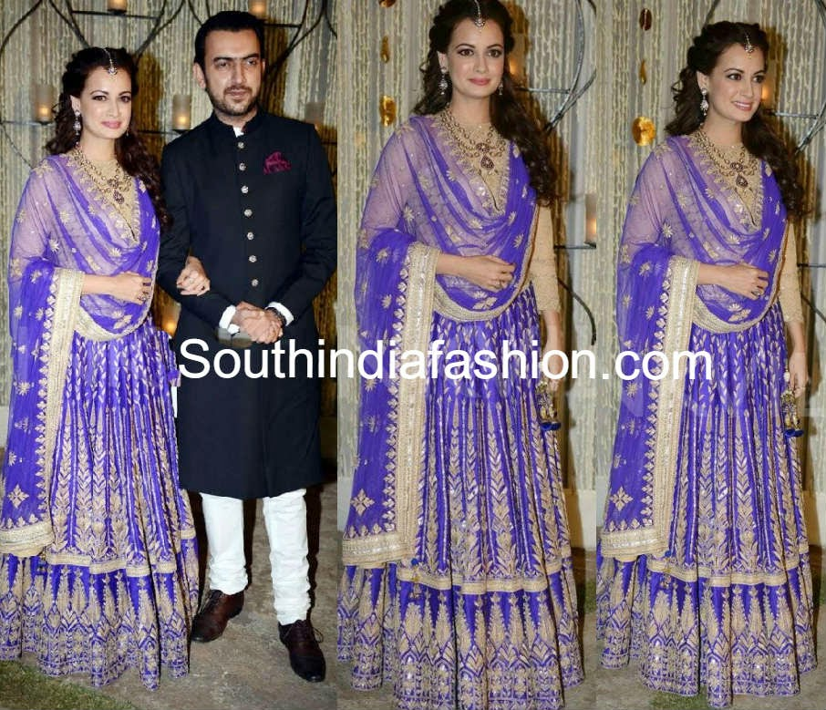Dia Mirza And Sahil Sangha At Their Sangeet Ceremony