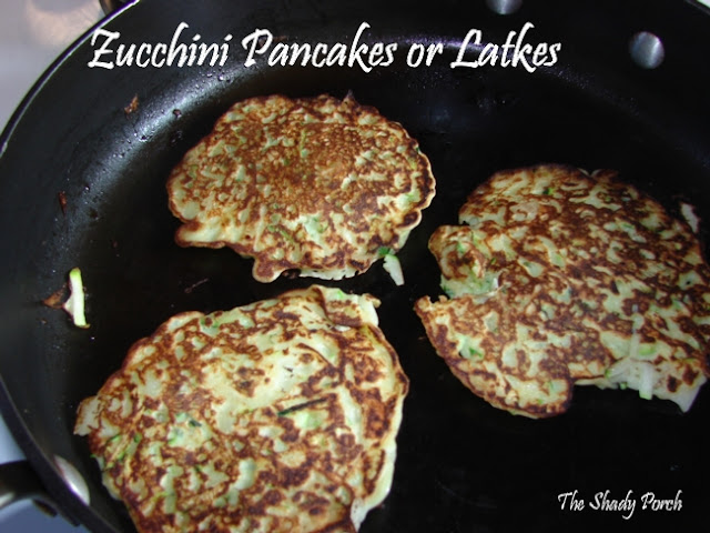 Zucchini Pancakes or Latkes #gardenharvest #zucchini #recipe #latkes