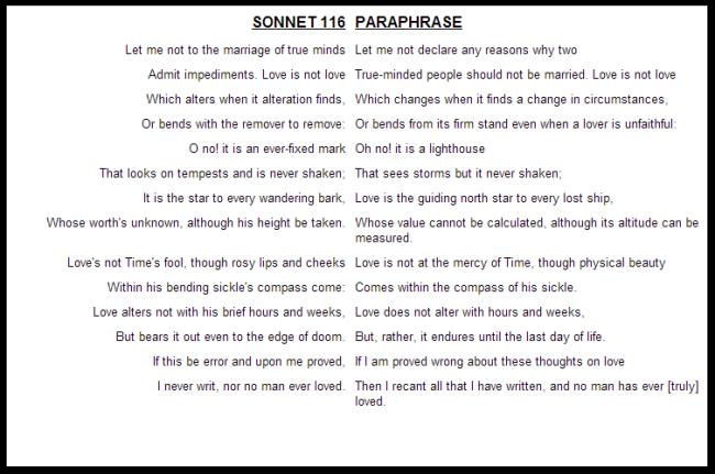 sonnet 116 analysis essay