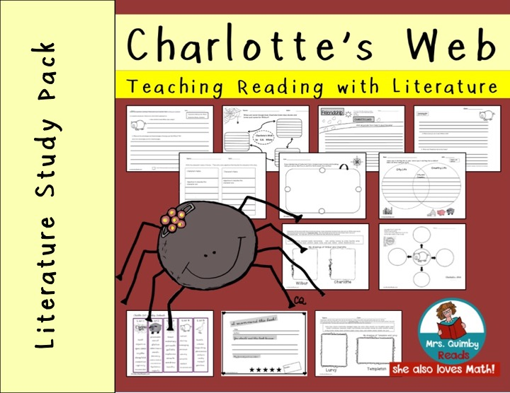 Charlotte's Web Literature Study Pack For Grades 2-3