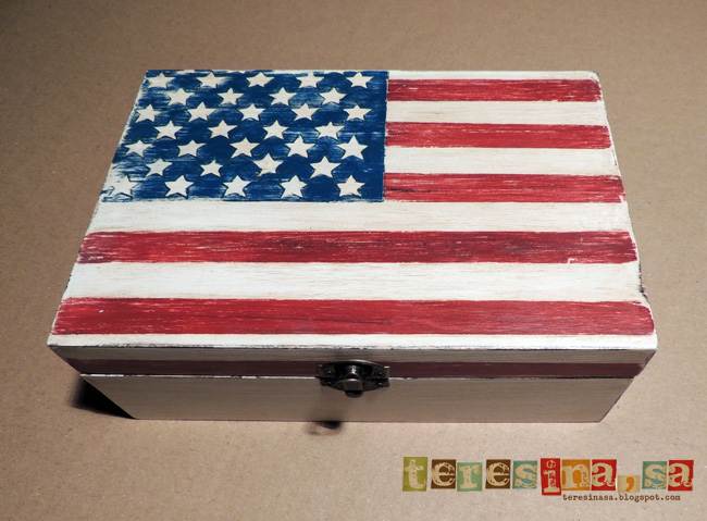 caja bandera USA