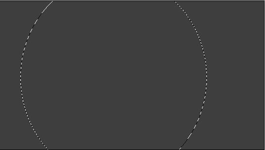 draw round by elliptical marquee tool