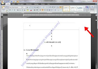 Setelah membuat nomor halaman ( Insert – page number ), aktifkan