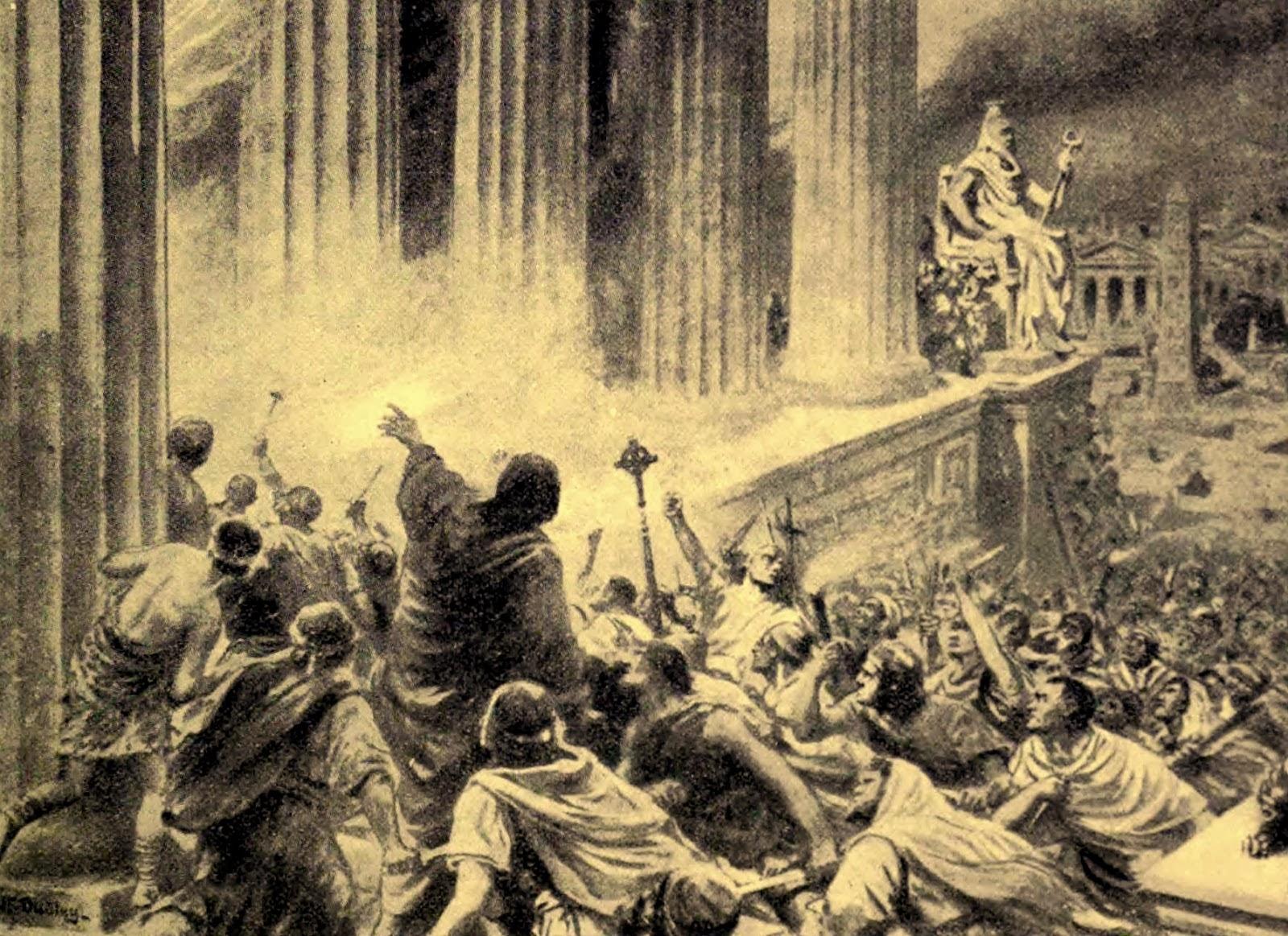 Η καταστροφή της βιβλιοθήκης της Αλεξάνδρειας