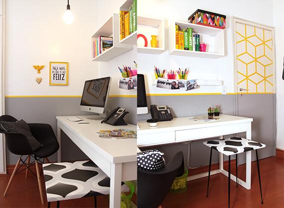 Decora o de escrit rio com pouca grana for Mesa escritorio barata
