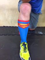 crossfit superman socks