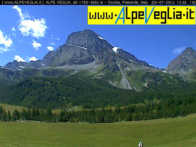 Webcam Varzo - Alpe Veglia Devero Natural Park