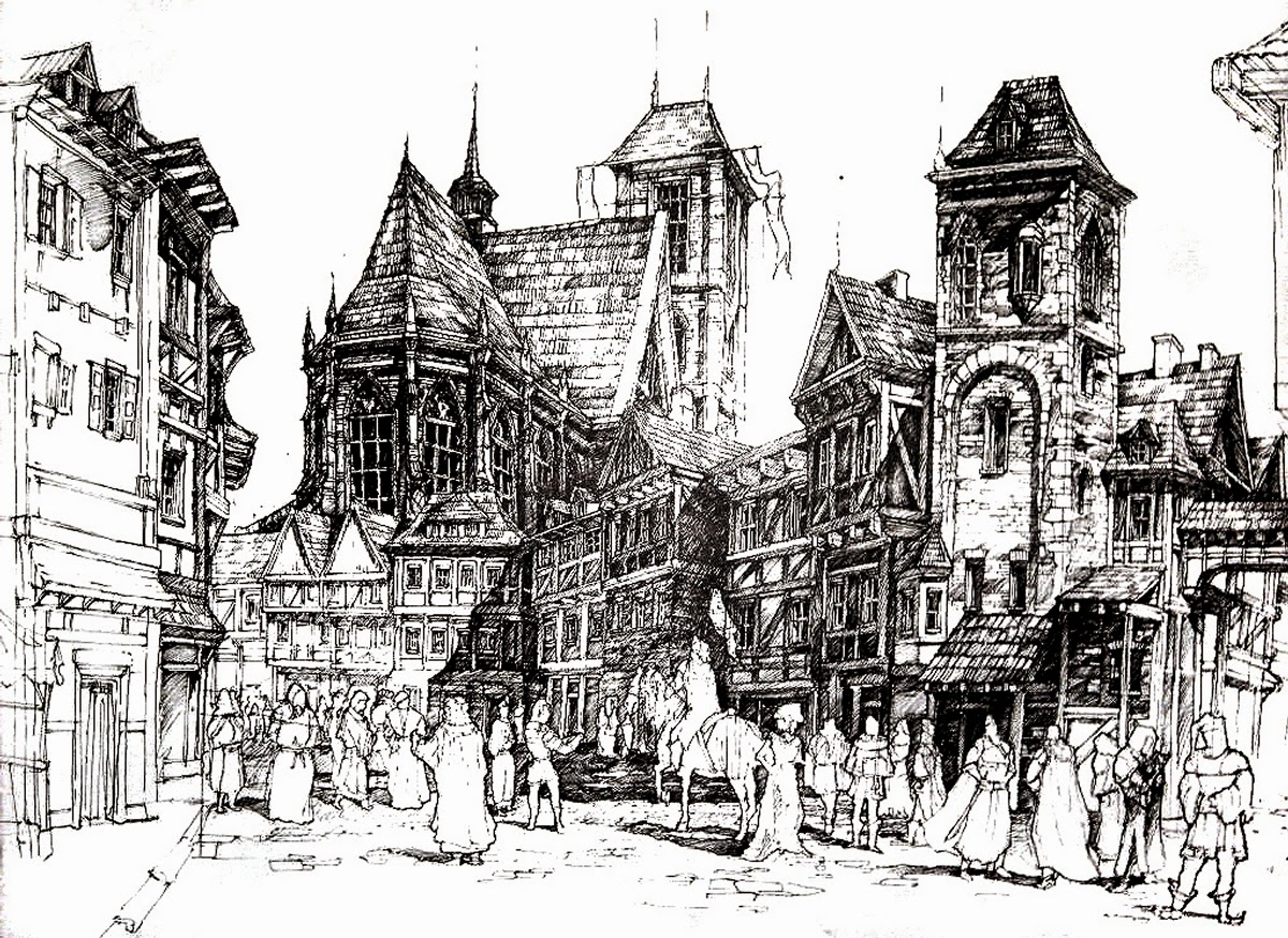 23-Medieval-Town-Łukasz-Gać-DOMIN-Poznan-Architectural-Drawings-of-Historic-Buildings-www-designstack-co