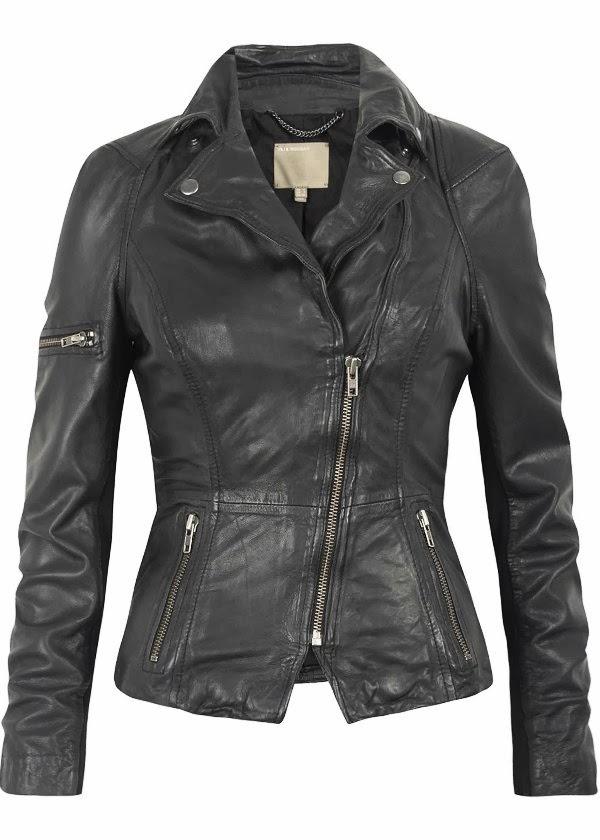 Adorable stylish warm leather jacket fashion