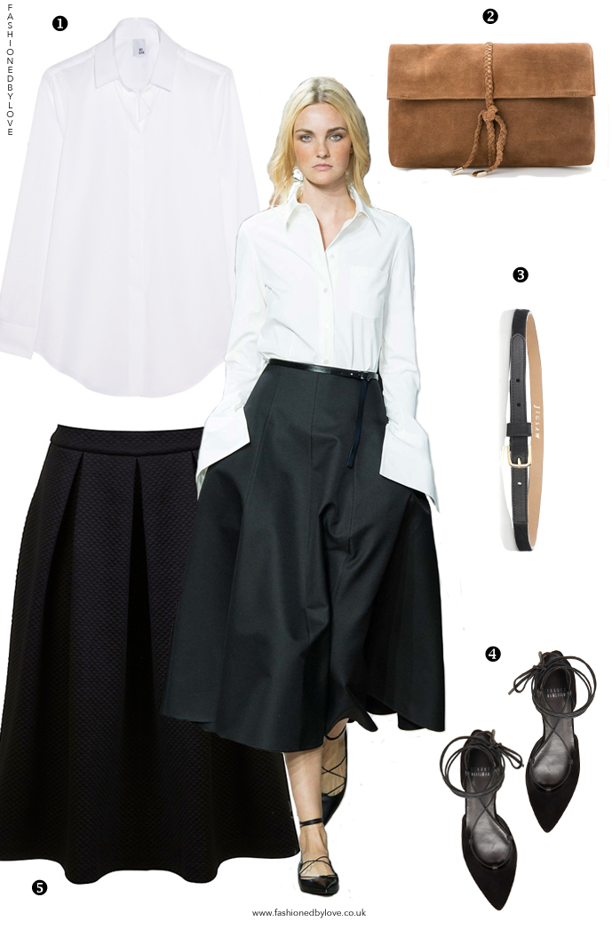 Designer look for less inspired by Michael Kors Spring/Summer 2015 collection / how to wear white shirt /  online shopping / outfit ideas / via fashioned by love british fashion blog