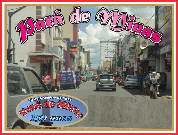 Pará de Minas 159 Anos de História
