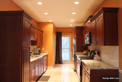 Kitchen Renovation   Burlap With Lace