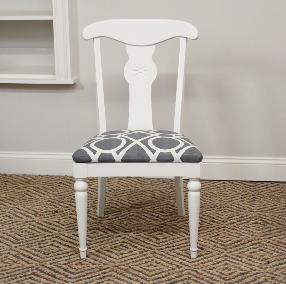4 modern chic ethan allen dining chairs sold