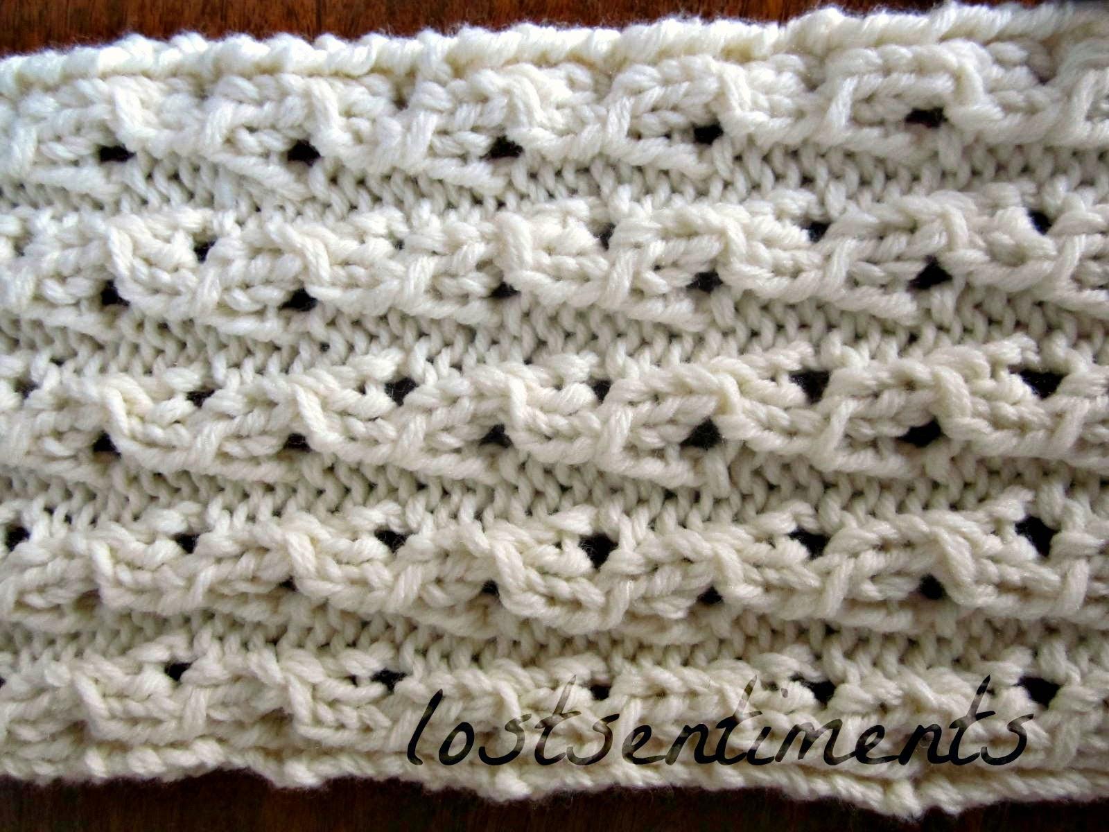 lostsentiments: Coconut Milk Peekaboo Lace Scarf Pattern - FREE Knitting Pattern