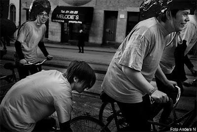 chalmers, kortege, cortegen, chalmerskortegen, cyklister, lång cykel, tandemcykel, tsyfpl, foto anders n