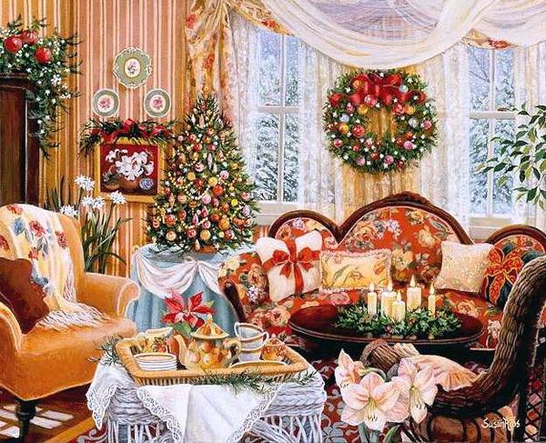 Оформление к рождеству своими руками