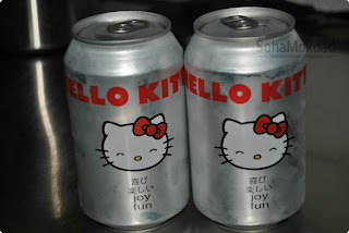 Hello Kitty soda cans