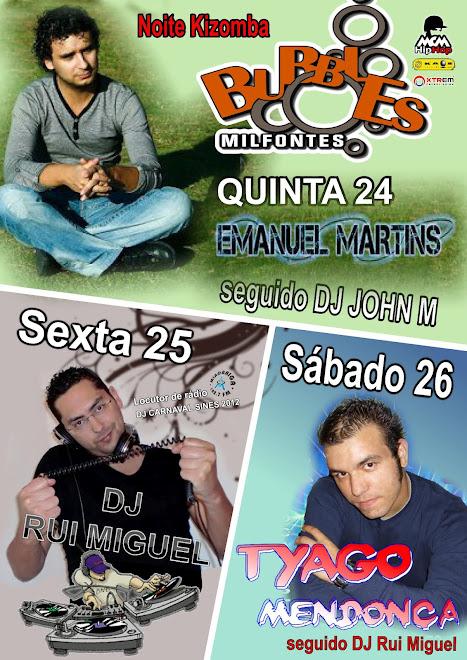 DJ Rui Miguel @ Bubbles Bar - Milfontes: Cartaz: