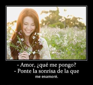 Frases De Amor: Amor Que Me Pongo Ponte La Sonrisa De La Que Me Enamoré
