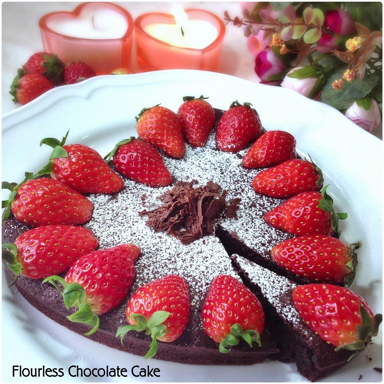 Valentine's Bakes] Chocolate Flourless Cake and Chocolate Raspberry ...