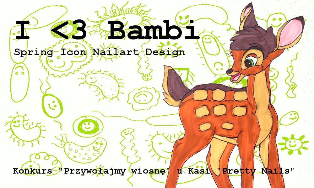 Jelonek Bambi przywołuje wiosnę! Kwiatki i malowanki na paznokciach