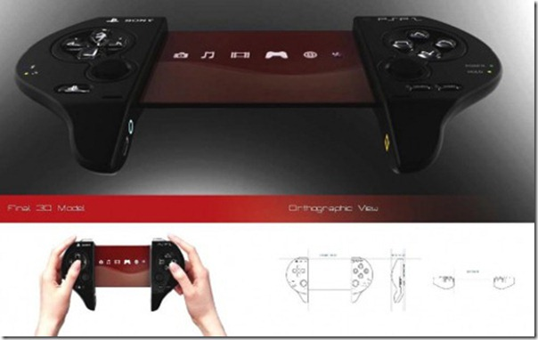 Concept of Portable Sony PSP 2 5-inch OLED screen