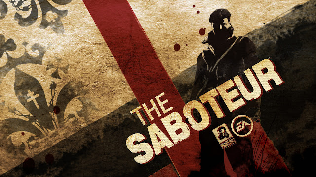 The Saboteur title screen pc