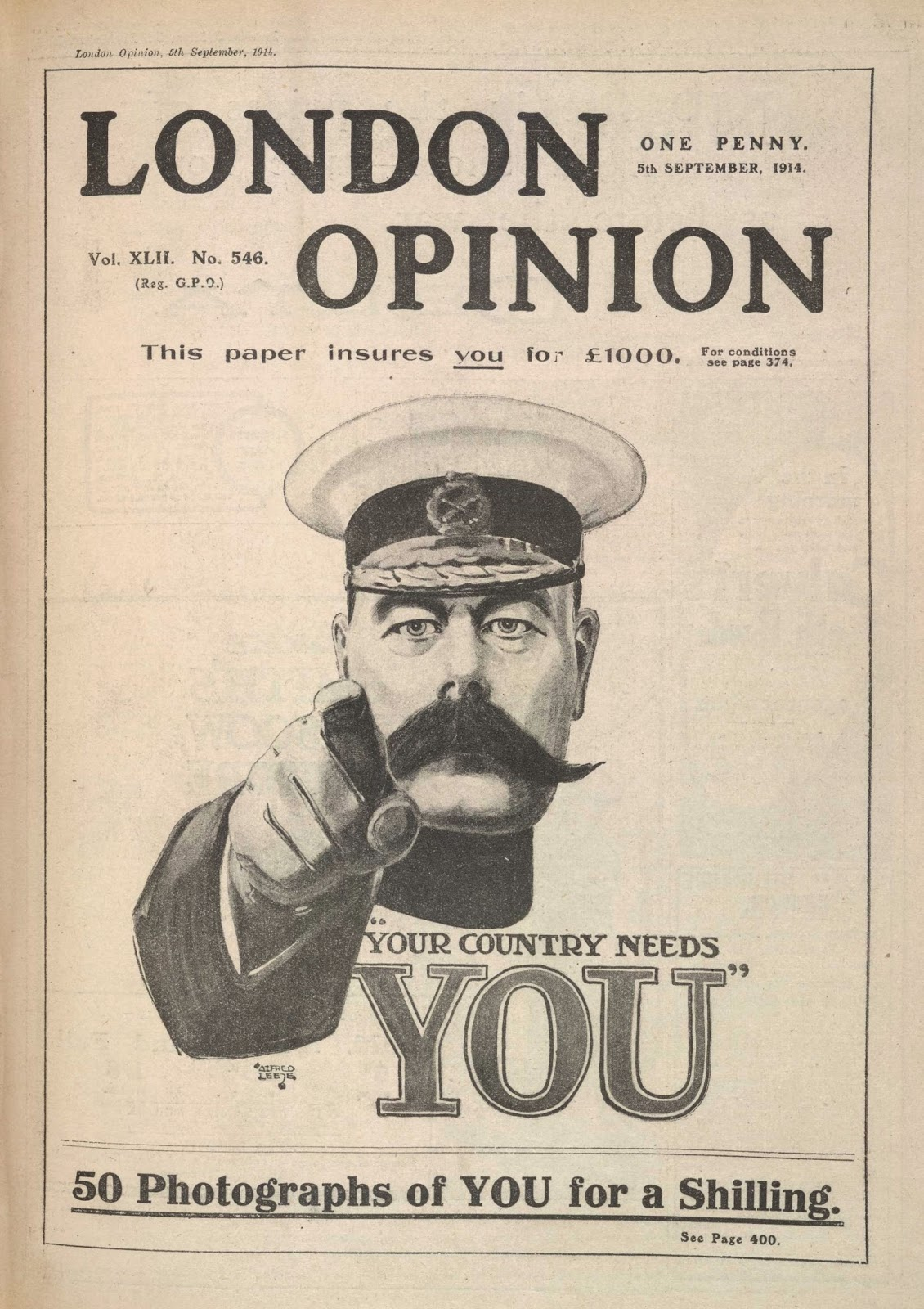 WW1 'your country needs you' poster