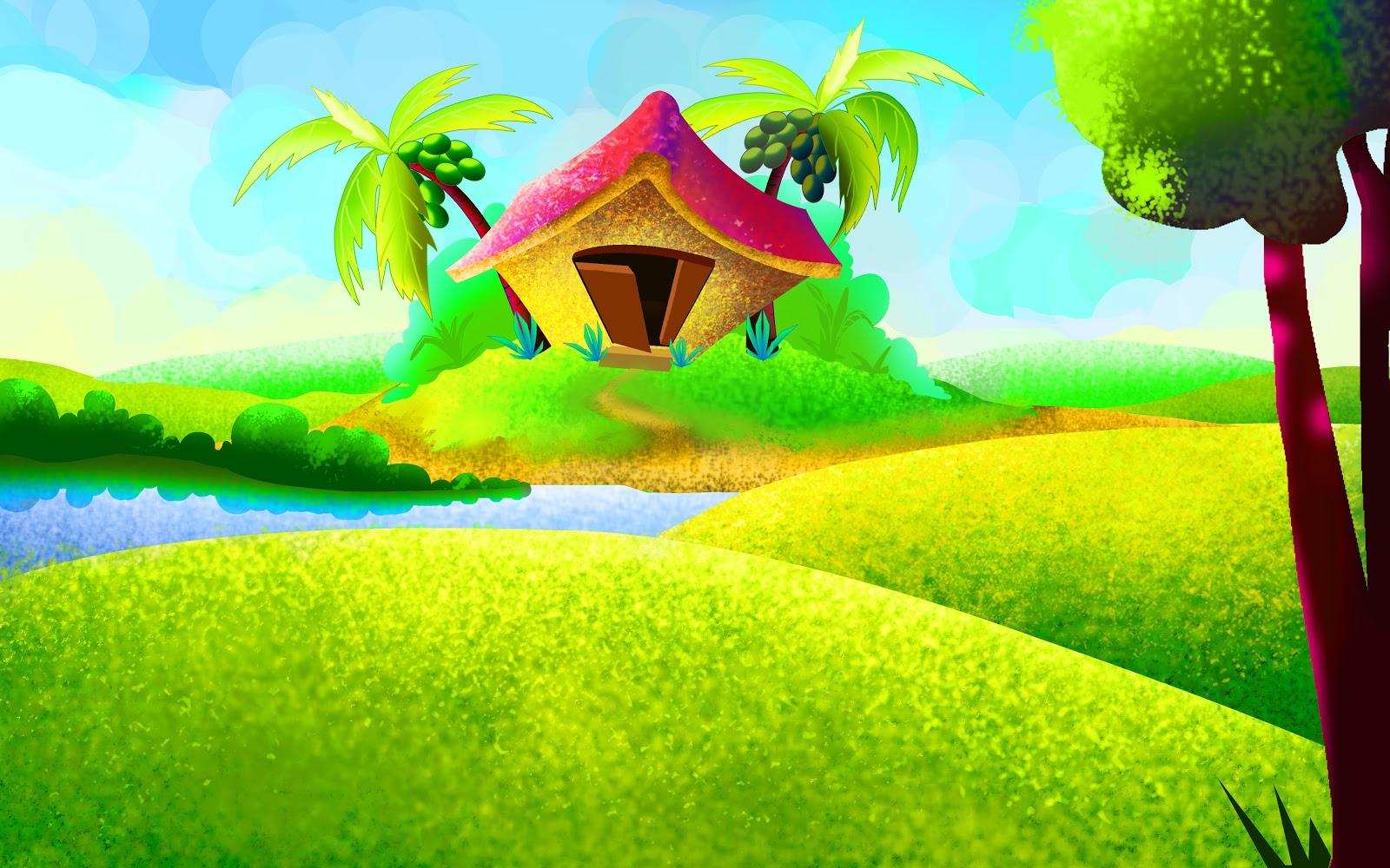 landscape cartoon pictures